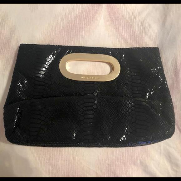 MICHAEL Michael Kors Handbags - MICHAEL Michael Kors Berkley Black Python Clutch